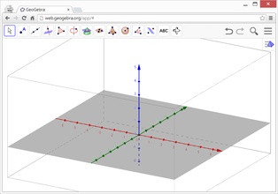 Vista 3d geogebra manual for Dibujar planos online